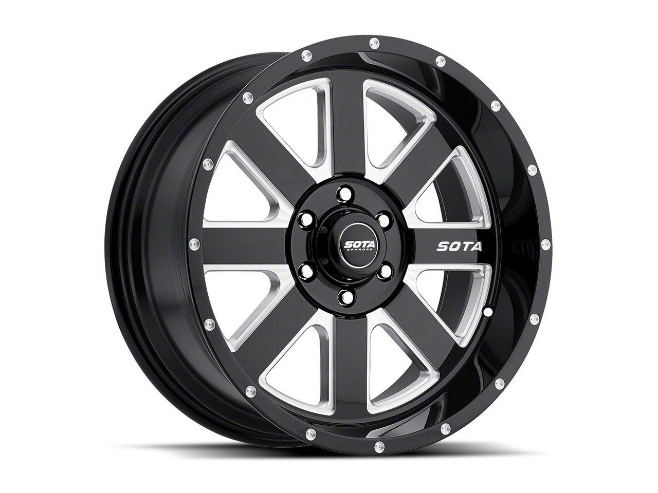 SOTA Off Road A.W.O.L. Death Metal Wheel - 20x10 (07-18 Jeep Wrangler JK; 2018 Jeep Wrangler JL)