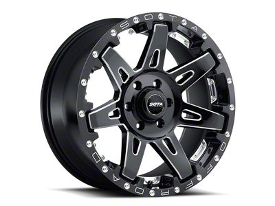 SOTA Off Road B.A.T.L. Death Metal Wheels (07-18 Jeep Wrangler JK; 2018 Jeep Wrangler JL)