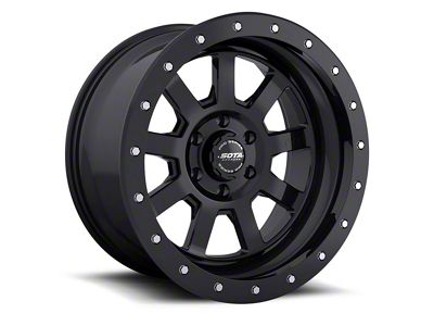 SOTA Off Road S.S.D. Stealth Black Wheels (07-18 Jeep Wrangler JK; 2018 Jeep Wrangler JL)