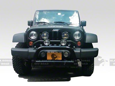 Black Horse Off Road Bull Bar - Black (07-09 Jeep Wrangler JK)