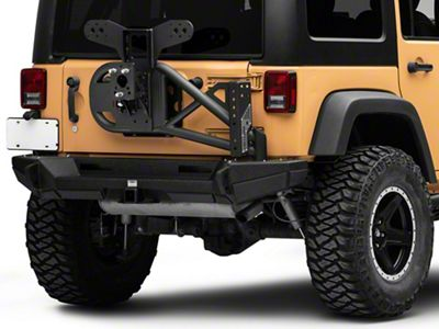 Smittybilt XRC Gen2 Bolt-On Tire Carrier - Textured Black (07-18 Jeep Wrangler JK)