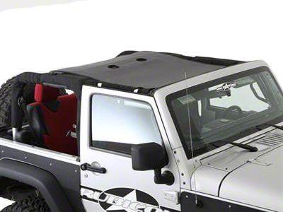 Smittybilt Cloak Mesh Sides & Rear (07-18 Jeep Wrangler JK 2 Door)