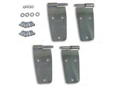 Smittybilt Door Hinges - Stainless Steel (87-93 Jeep Wrangler YJ w/ Full Steel Doors)