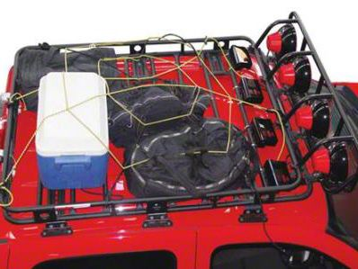 Smittybilt Largo Cargo Net (87-18 Jeep Wrangler YJ, TJ, JK & JL)