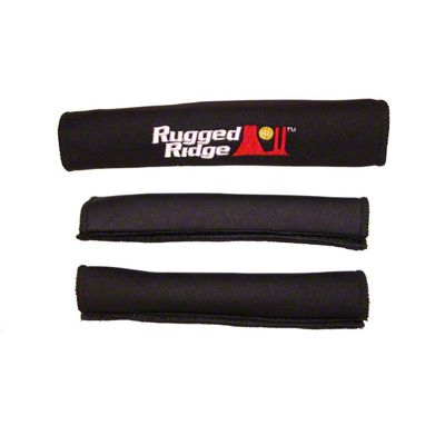 Rugged Ridge Neoprene Door & Grab Handle Covers - Black (87-95 Jeep Wrangler YJ)