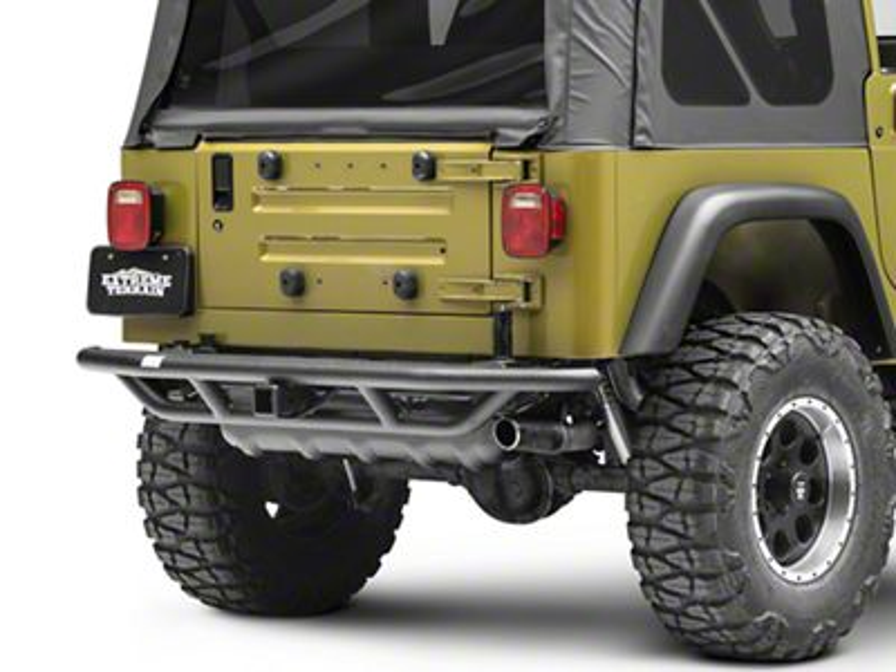 Smittybilt SRC Rear Bumper w/ Hitch (87-06 Jeep Wrangler YJ & TJ)