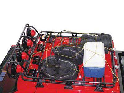 Smittybilt Small Cargo Rack Net (87-19 Jeep Wrangler YJ, TJ, JK & JL)
