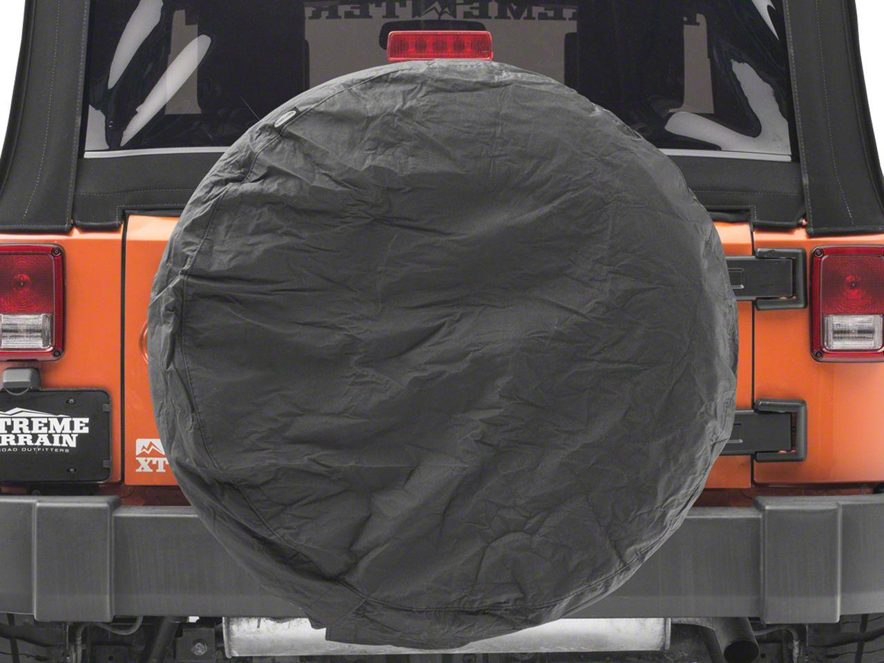 Smittybilt 36-37 in. Spare Tire Cover - Black Diamond (87-19 Jeep Wrangler YJ, TJ, JK & JL)