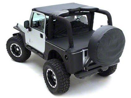 Smittybilt 36-37 in. Spare Tire Cover - Denim Black (87-19 Jeep Wrangler YJ, TJ, JK & JL)