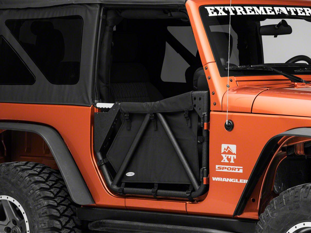 Smittybilt SRC Gen2 Front Tube Doors (07-18 Jeep Wrangler JK)