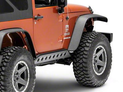 Smittybilt SRC Rocker Guards - Light Textured (07-18 Jeep Wrangler JK 2 Door)