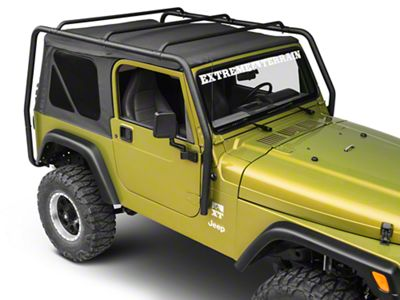 Smittybilt SRC Roof Rack - Black Textured (97-06 Jeep Wrangler TJ)