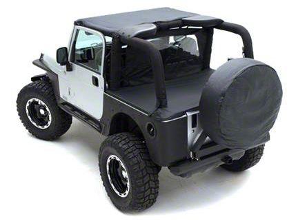 Smittybilt Outback Wind Breaker - Khaki Diamond (07-18 Jeep Wrangler JK 2 Door)