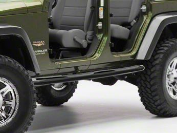 Smittybilt 3 in. Sure Side Step Bars - Gloss Black (97-06 Jeep Wrangler TJ, Excluding Unlimited)