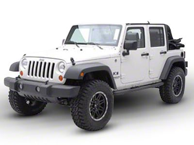 Smittybilt 3 in. Sure Side Step Bars - Gloss Black (07-18 Jeep Wrangler JK 2 Door)