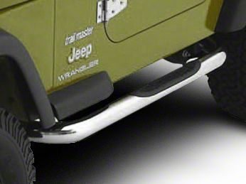 Smittybilt 3 in. Sure Side Step Bars - Stainless Steel (97-06 Jeep Wrangler TJ, Excluding Unlimited)