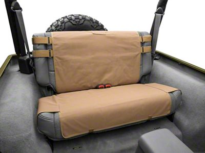 Smittybilt G.E.A.R. Rear Seat Cover - Coyote Tan (87-06 Jeep Wrangler YJ & TJ)