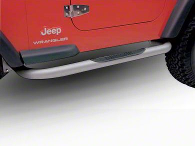 Smittybilt 3 in. Sure Side Step Bars - Stainless Steel (87-95 Jeep Wrangler YJ)