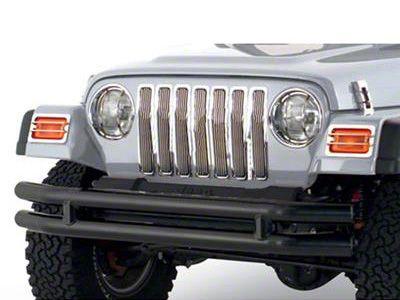 Smittybilt Front Tubular Bumper w/o Hoop - Gloss Black (87-06 Jeep Wrangler YJ & TJ)