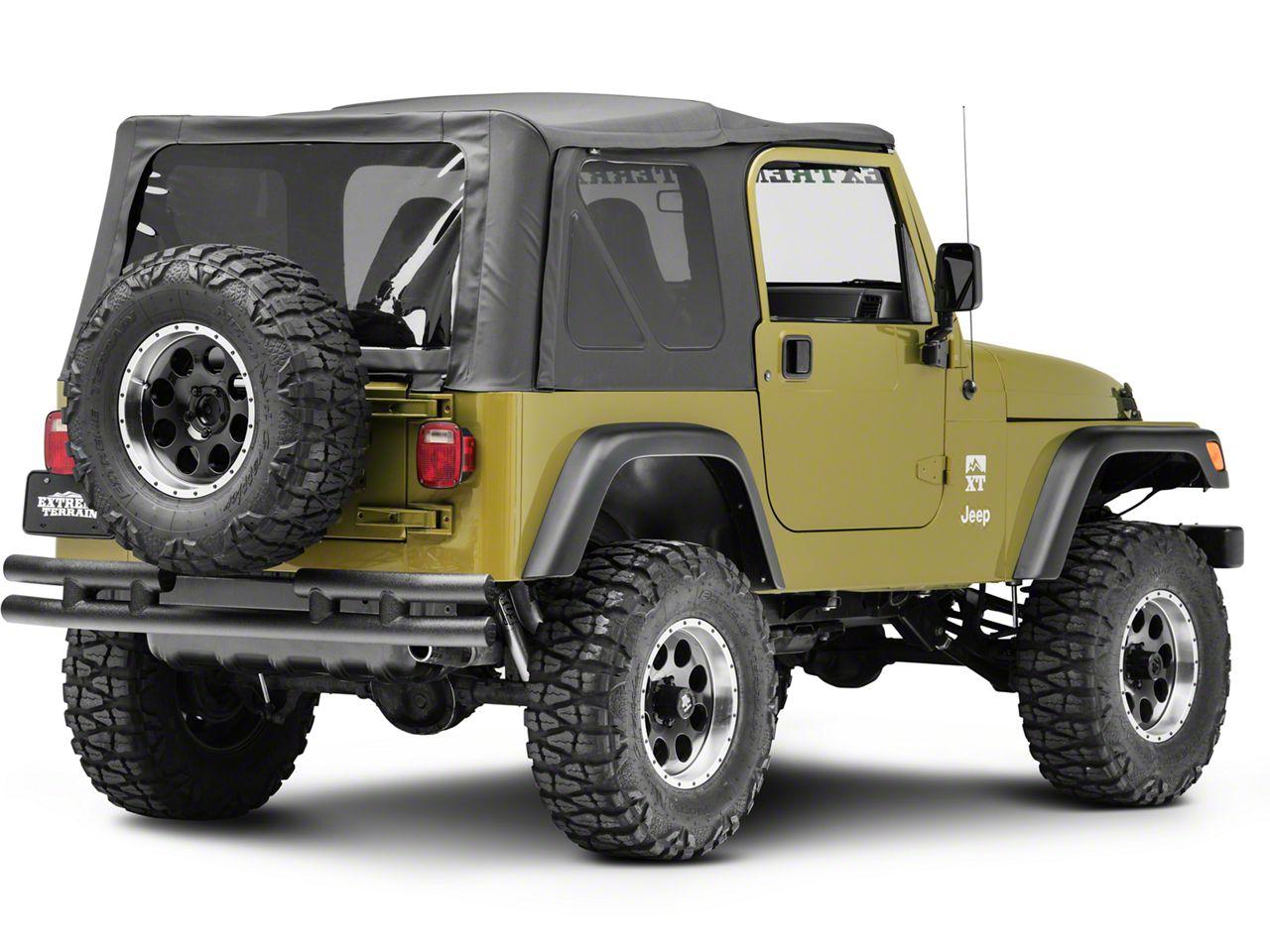 Smittybilt Rear Tubular Bumper - Textured Black (87-06 Jeep Wrangler YJ & TJ)