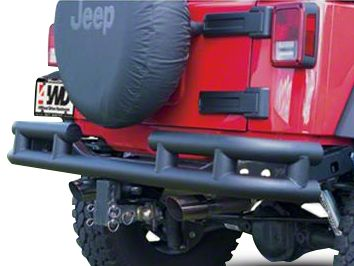 Smittybilt Rear Tubular Bumper - Textured Black (07-18 Jeep Wrangler JK)