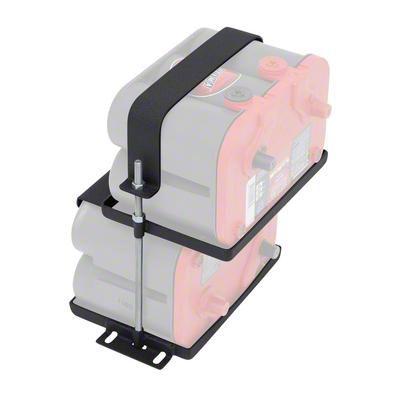 Smittybilt Dual Battery Tray for Optima Batteries (87-19 Jeep Wrangler YJ, TJ, JK & JL)