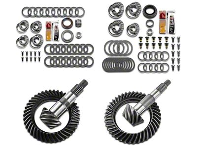 Motive Dana 30 Front Axle/44 Rear Axle Complete Ring Gear and Pinion Kit - 4.11 Gears (07-18 Jeep Wrangler JK, Excluding Rubicon)