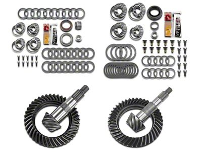 Motive Dana 30 Front Axle/44 Rear Axle Complete Ring Gear and Pinion Kit - 4.56 Gears (07-18 Jeep Wrangler JK, Excluding Rubicon)