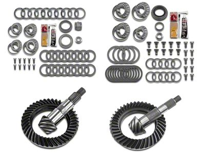 Motive Dana 30 Front Axle/44 Rear Axle Complete Ring Gear and Pinion Kit - 5.13 Gears (07-18 Jeep Wrangler JK, Excluding Rubicon)