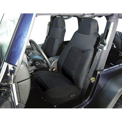 Rugged Ridge Custom Fabric Front Seat Covers - Black (03-06 Jeep Wrangler TJ)