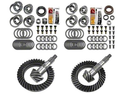 Motive Dana 44 Front Axle/44 Rear Axle Complete Ring Gear and Pinion Kit - 4.56 Gears (07-18 Jeep Wrangler JK Rubicon)