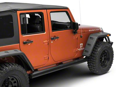 Barricade Octa Side Step Bars - Black (07-18 Jeep Wrangler JK 4 Door)