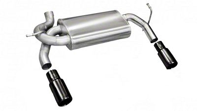 Corsa Dual Axle-Back Exhaust w/ Black Tips (07-18 Jeep Wrangler JK)