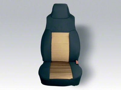 Rugged Ridge Custom Fabric Front Seat Covers - Tan/Black (03-06 Jeep Wrangler TJ)
