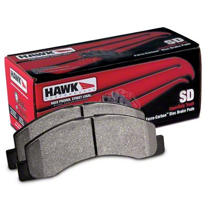 Hawk Performance SuperDuty Brake Pads - Front Pair (90-06 Jeep Wrangler YJ & TJ)