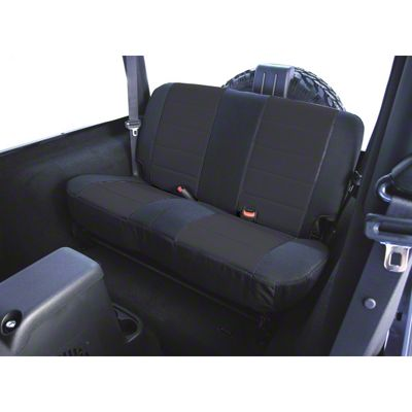 Rugged Ridge Custom Fabric Rear Seat Cover - Black (03-06 Jeep Wrangler TJ)