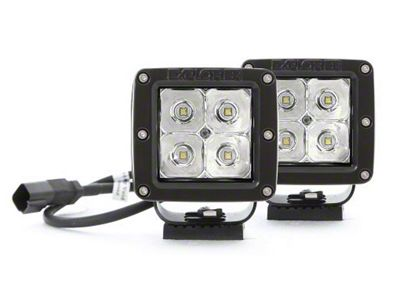 Pro Comp Suspension 4 in. Explorer Series LED Cube Lights - Spot Beam - Pair