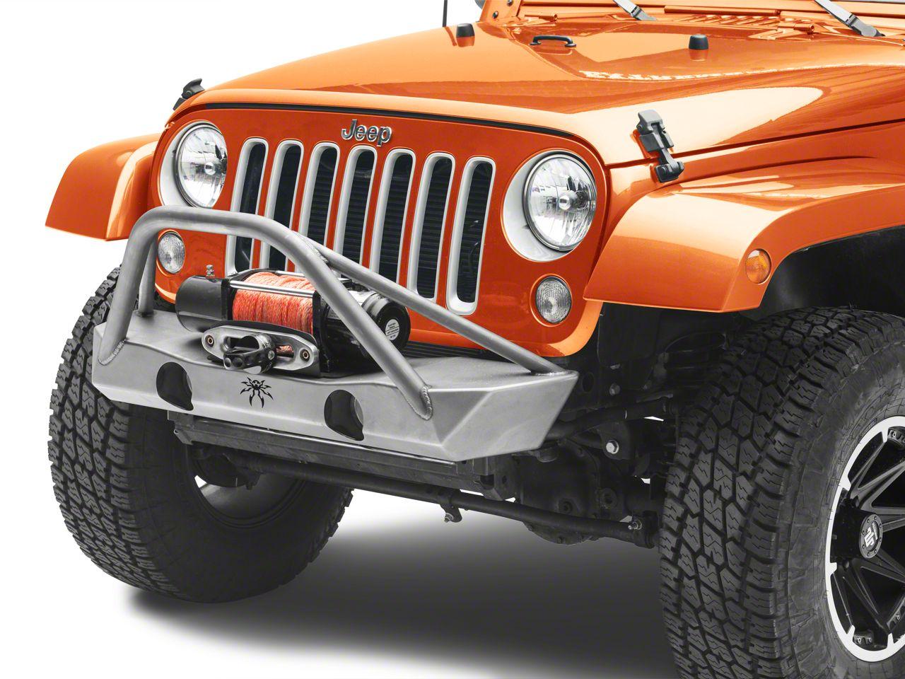 Poison Spyder Brawler Lite Front Bumper w/ Brawler Bar - Bare Steel (07-18 Jeep Wrangler JK)