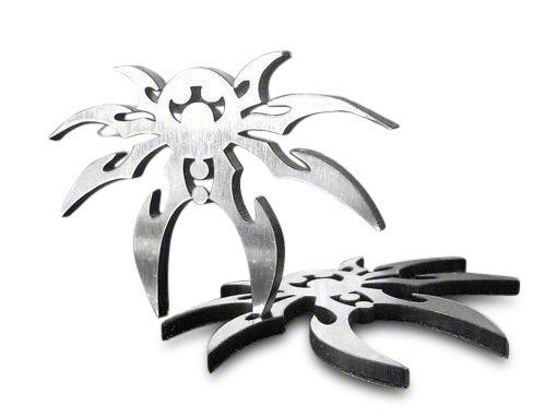 Poison Spyder Chrome Spyder Emblem (87-18 Jeep Wrangler YJ, TJ, JK & JL)