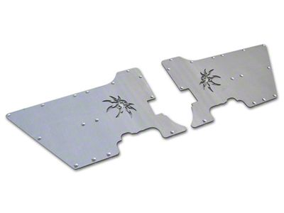 Poison Spyder DeFender XC Full Length Side Plate Inserts - Bare Aluminum (97-06 Jeep Wrangler TJ)