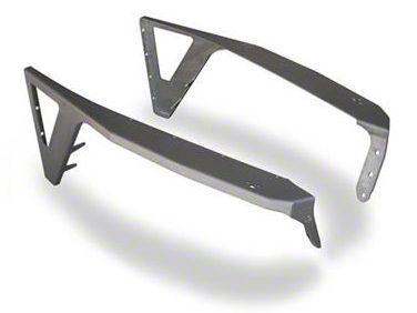 Poison Spyder Front DeFender Negative Fender Flares - Bare Steel (97-06 Jeep Wrangler TJ)