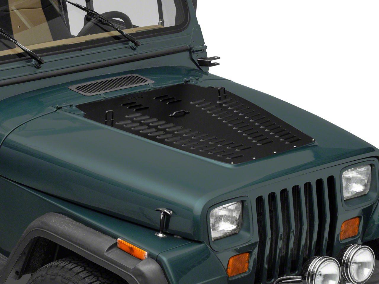 Poison Spyder Hood Louver - Black (87-95 Jeep Wrangler YJ)