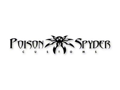 Poison Spyder Medium Custom Logo Decal - Black (87-19 Jeep Wrangler YJ, TJ, JK & JL)