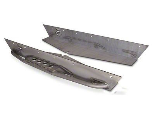 Poison Spyder Ricochet Rockets for TJ Fender Flares - Bare Steel (87-95 Jeep Wrangler YJ)