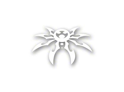 Poison Spyder Small Spyder Decal - White (87-19 Jeep Wrangler YJ, TJ, JK & JL)