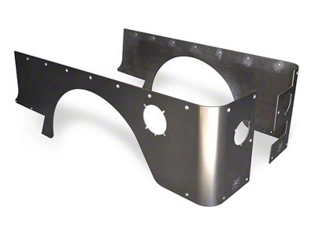 Poison Spyder Standard Crusher Corners - Bare Steel (04-06 Jeep Wrangler TJ Unlimited)