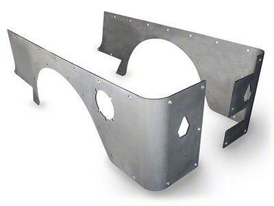 Poison Spyder Stock Crusher Corners - Bare Steel (04-06 Jeep Wrangler TJ Unlimited)