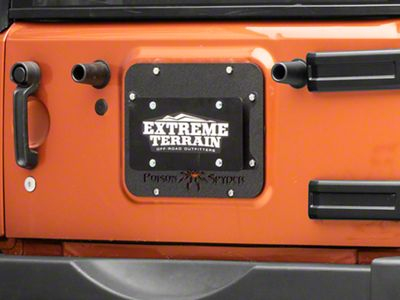 Poison Spyder Tramp Stamp II w/ License Plate Mount - Wide Vent (07-18 Jeep Wrangler JK)