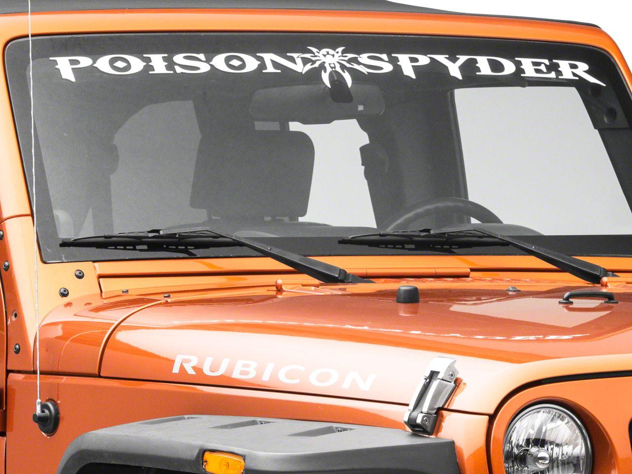 Poison Spyder Windshield Banner - White (87-18 Jeep Wrangler YJ, TJ, JK & JL)