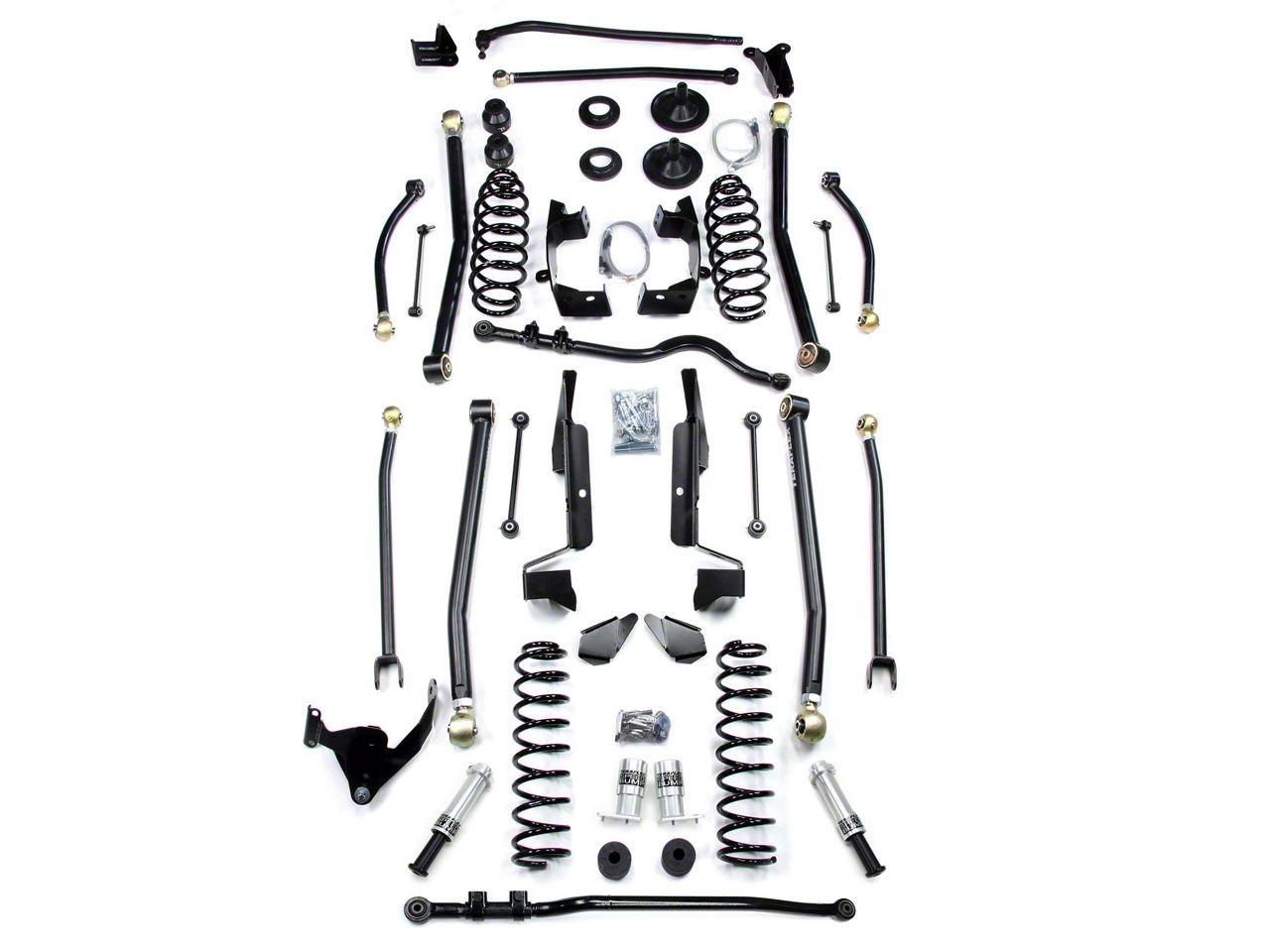 Teraflex 6 in. Elite LCG Long FlexArm Lift Kit w/ SpeedBumps (07-18 Jeep Wrangler JK 4 Door)